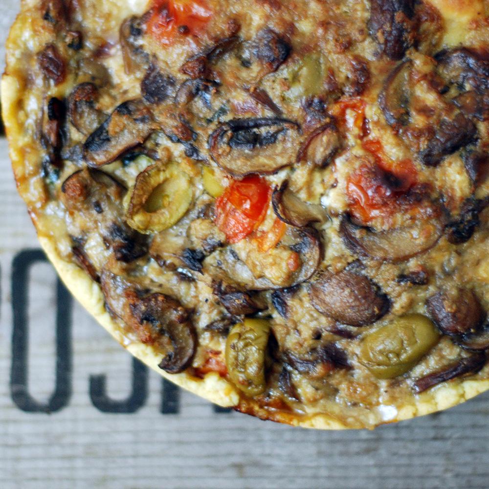 Mushroom And Olives Tart Essential Vegan